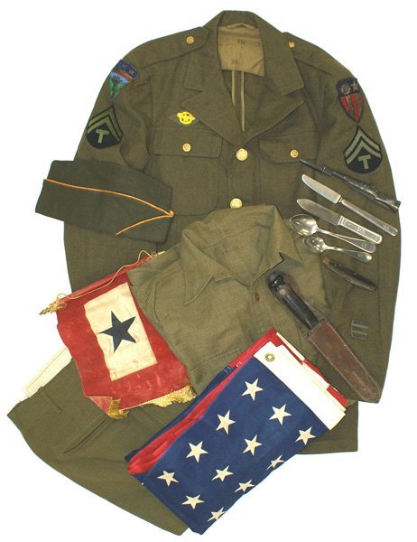 U.S. WWII CBI Theater uniform lot