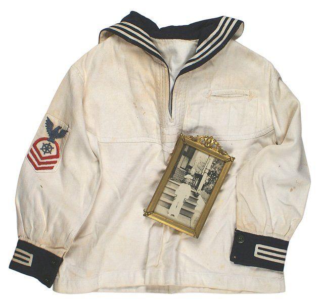 Period child U.S. WWI Navy white jumper