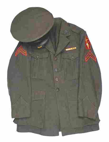 USMC WWII tunic and cap