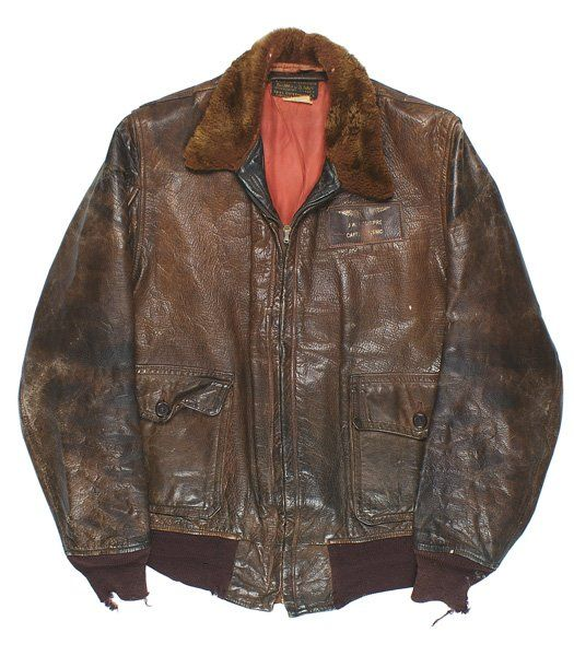 USMC WWII pilot leather jacket