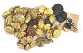 Lot Of U.s. Wwii Uniform Buttons