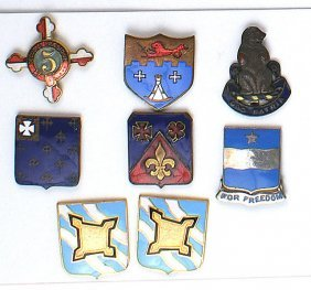 Lot Of 16 U.s. Wwii Enameled D.i.s