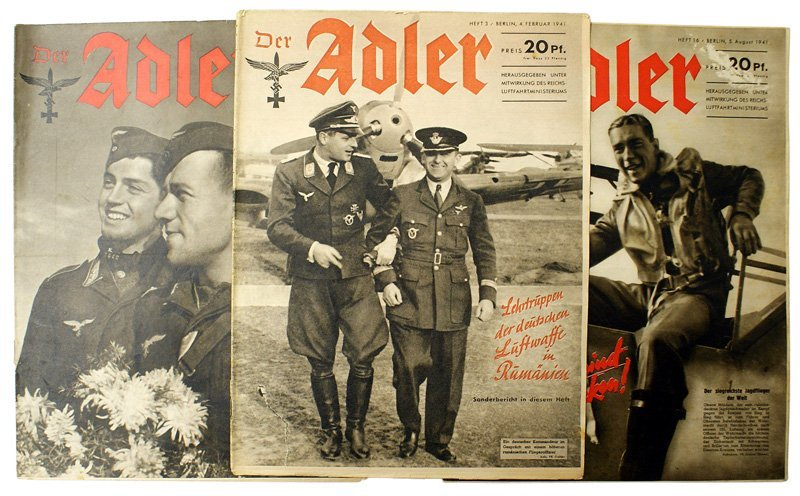 Lot of 3 Luftwaffe pictorial Der Adler