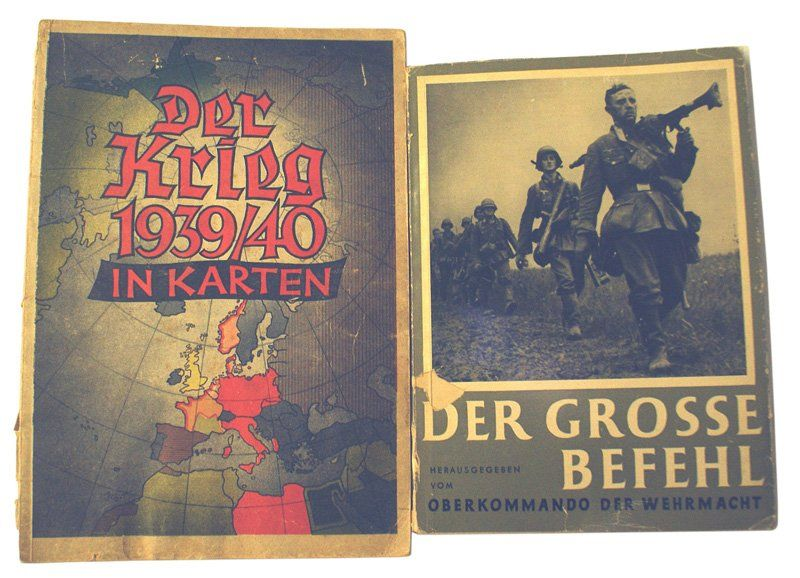 Lot of 2 German books Der Krieg IN KARTEN
