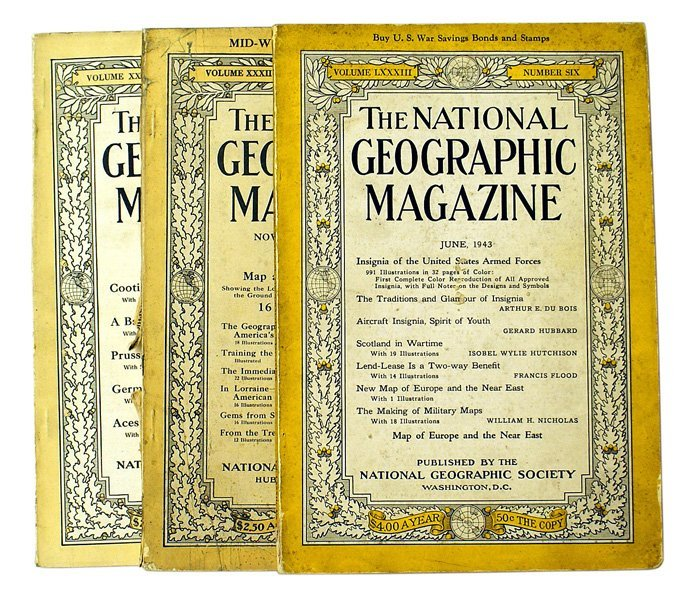 Lot of 3 National Geographic magazines