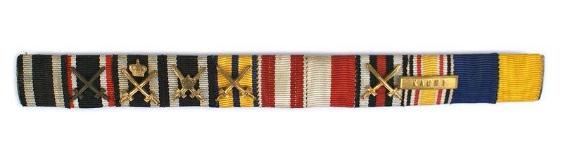 German WWI WWII ribbon bar Iron Cross