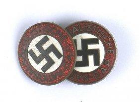 Lot 2 German Wwii Nsdap Member Badges