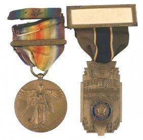 Lot Of 2 U.s. Wwi Medals Victory