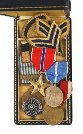 U.s. Korean War Lot Bronze Star Etc