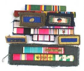 Lot Of U.s. Ribbon Bars Wwii Navy