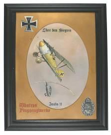 German Albatros French plane painting
