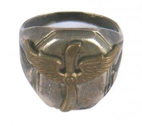 German Wwi Silver Pilot Ring