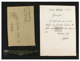 German Wwi Letter From Pilot