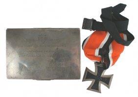 German Wwii Knights Cross / Cigarette Case