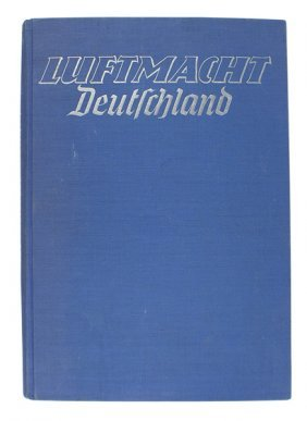 Hermann Goring Library Book Luftmacht Deutschland