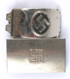 Lot 2 Early German Wwii Hitler Youth Buckles