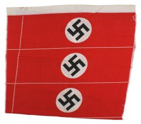 German Wwii Printed Nsdap Armbands Uncut