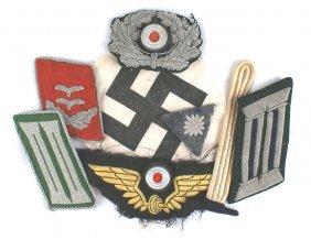 Lot Of German Wwii Insignia Collar Tabs Etc