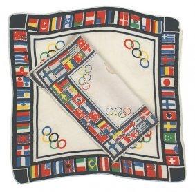 German Wwii 1936 Olympics Handkerchiefs
