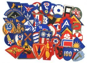 Lot Of 51 U.s. Wwii Patches