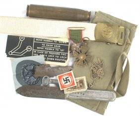 Lot Of German French Us Wwi Wwii Items