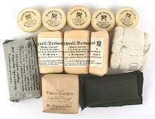 German WWII medical lot bandages