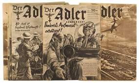 Lot of 9 German Luftwaffe Der Adler