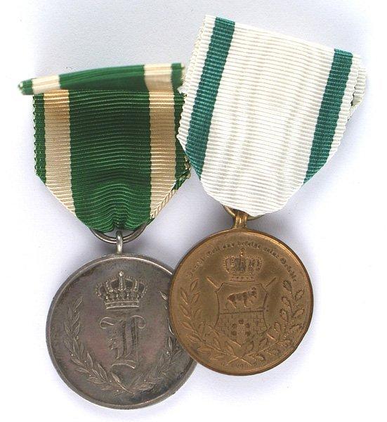German Anhalt lot of 2 medals Alexander-Karl