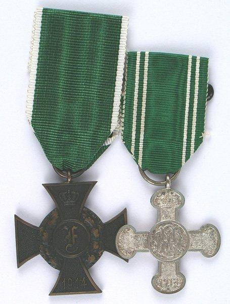 German Anhalt lot of 2 medals Friedrich Cross