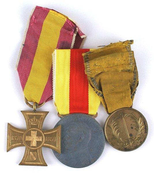 German Baden lot of 3 medals 1849