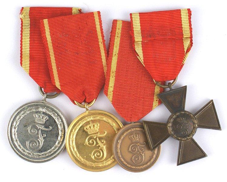German Baden lot of 4 Long Service awards