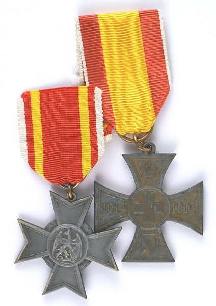 German Baden lot of 2 WWI awards