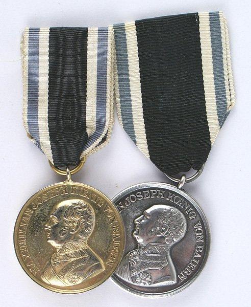 Bavarian lot of 2 Military Merit Medals