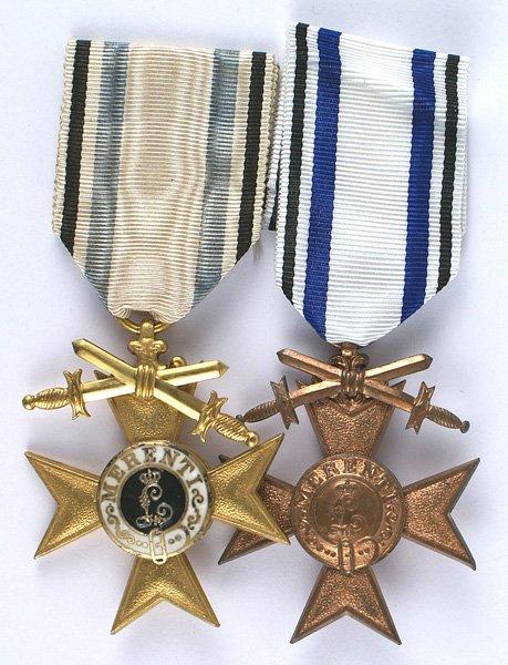 Bavarian lot of 2 Military Merit Crosses