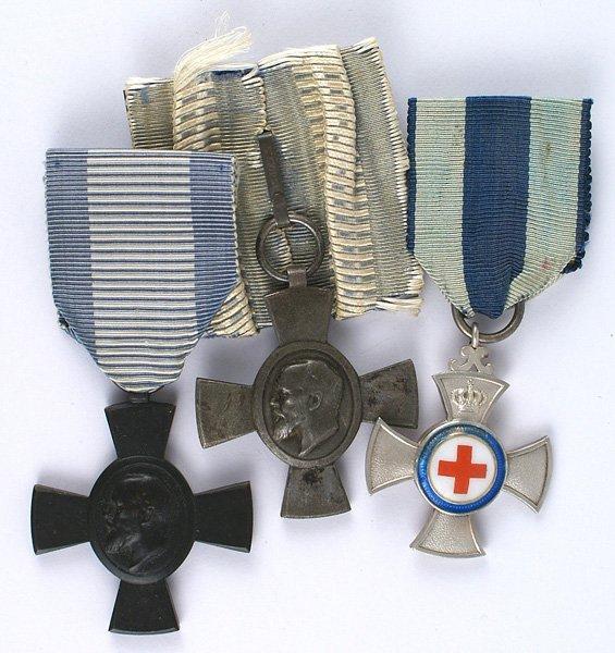 Bavarian lot of 3 medals War Aid Cross