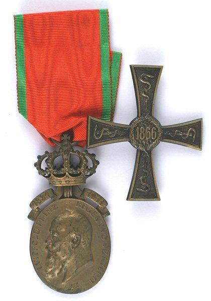 Bavarian Commemorative Badge Doctors 1866