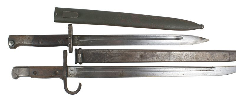 Lot of 2 bayonets Austrian Mannlicher Japanese