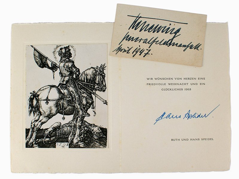 Lot of 2 German WWII military autographs