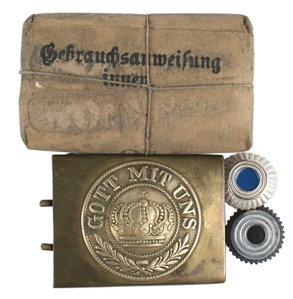 German WWI brass belt buckle