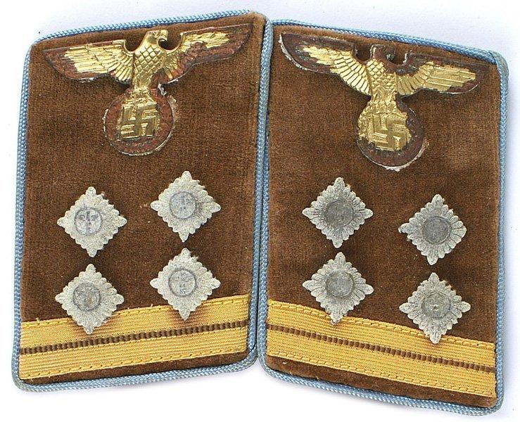 German WWII NSDAP Kreisleitung collar tabs