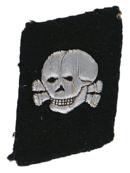 German WWII SS-Totenkopfverbande collar tab