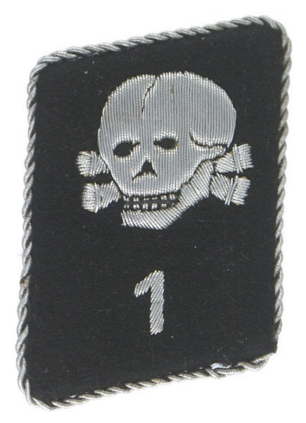 German SS Totenkopf Sturm I collar tab