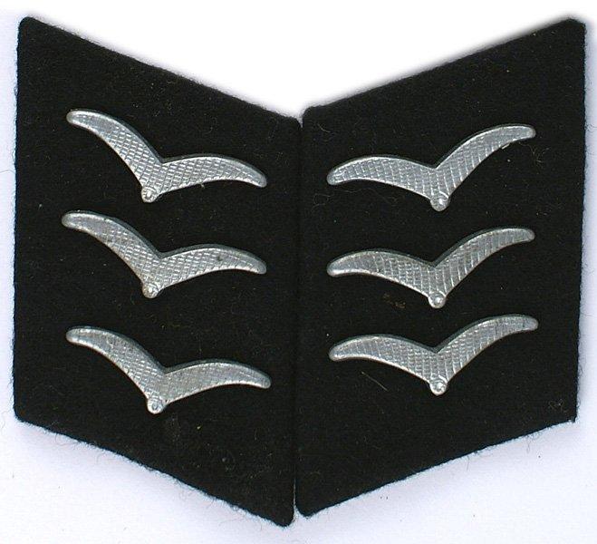 German Luftwaffe Construction collar tabs