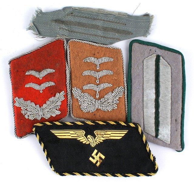 Lot of 5 German WWII single collar tabs