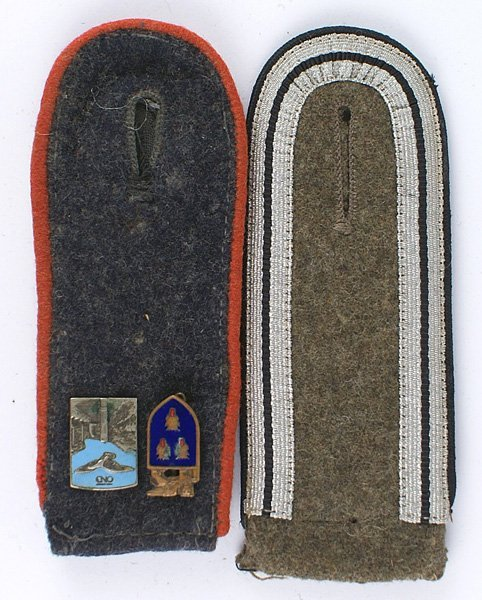 Lot of 2 German WWII single shoulder boards