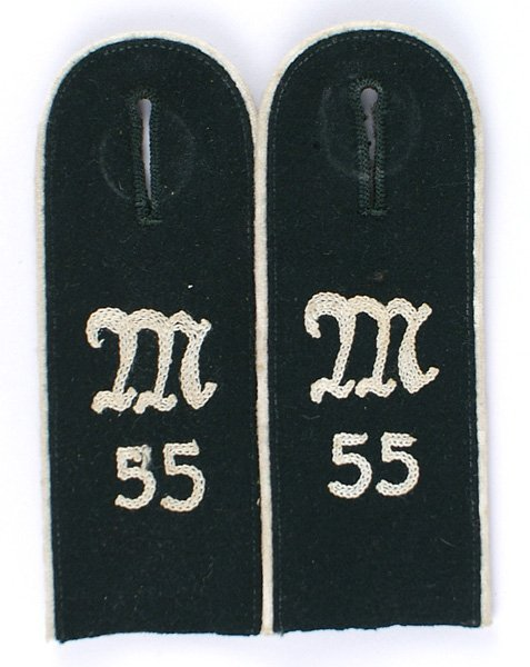 German WWII Machine Gun 55 shoulder boards