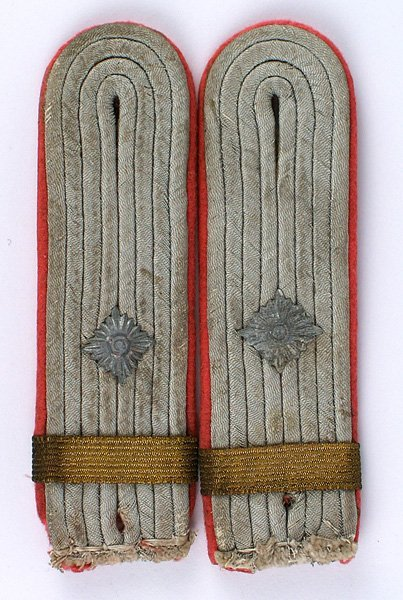 Pair of German WWII Panzer shoulder boards