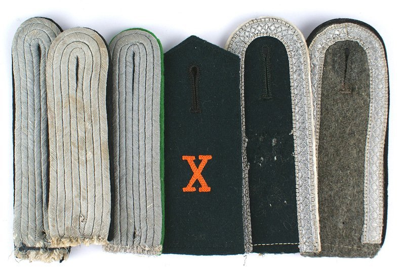 Lot of 6 German WWII Army shoulder boards