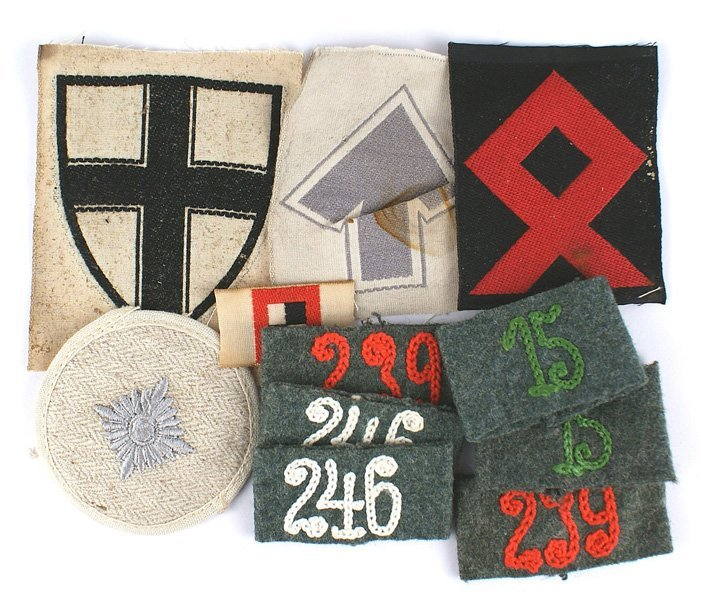 Lot of German WWII cloth insignia