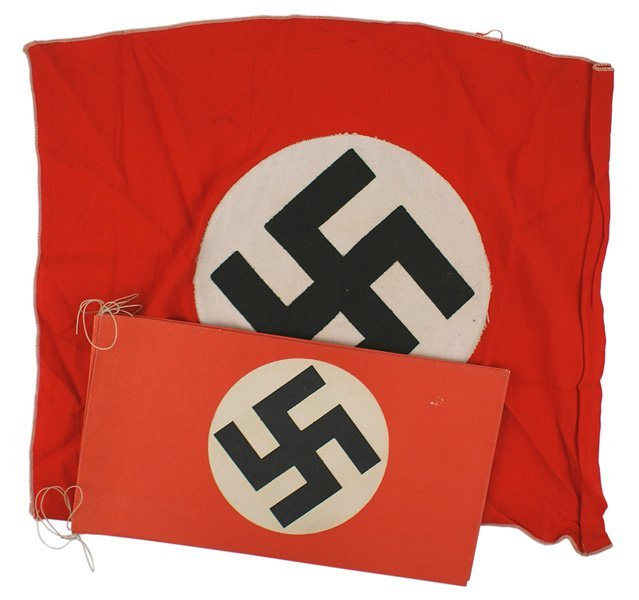 Lot of German WWII NSDAP flags